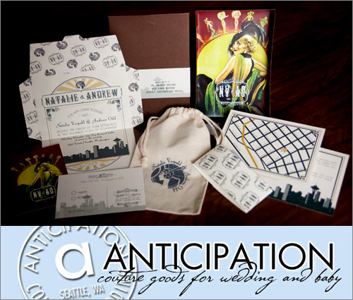 Flapper inspired wedding invitation from Anticipation, photo by Hannah D Photography | junebugweddings.com