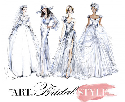 Art of Bridal Style, illustration by Rosemary Fanti | junebugweddings.com