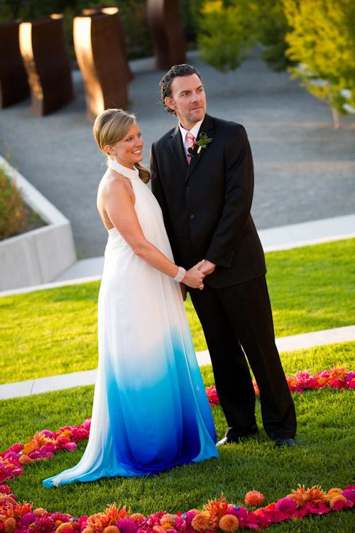 Blue Ombre Wedding Dress Photo By Stephanie Cristalli