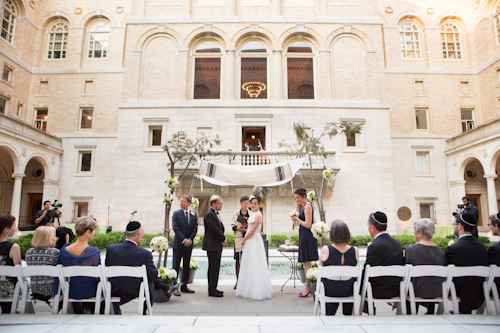 Boston Public Library Wedding, photos by Nathan Smith and Angi Welsch for Ira Lippke Studios | junebugweddings.com