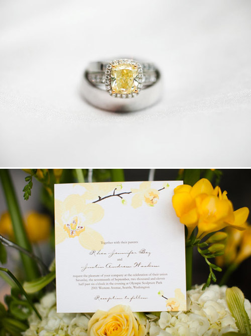 Yellow Diamond Wedding Ring, photo by The Popes