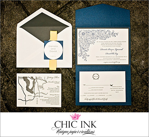 Wedding invitation by Chic Ink, Photo by Alante Photography | junebugweddings.com