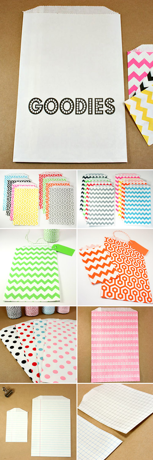 Colorful Baker 39 S Twine And Paper Wedding Favor Bags Junebug Weddings