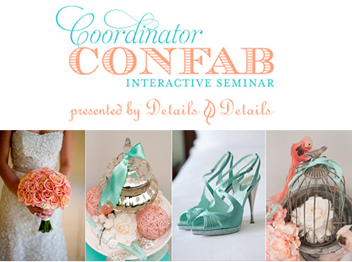Coordinator Confab Seminar by Details Details | junebugweddings.com