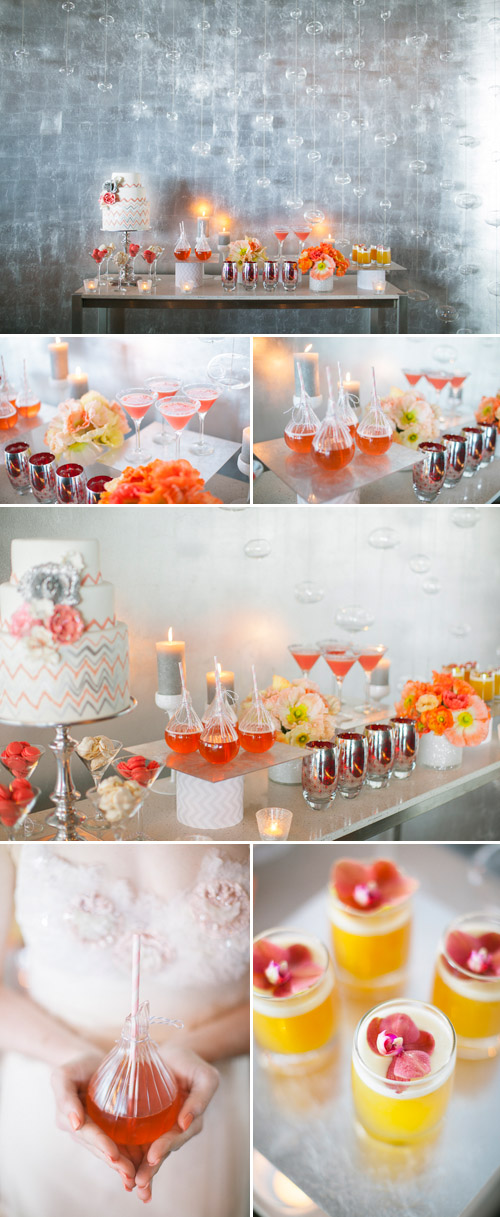 Coral And Orange Chevron Wedding Decor Ideas Junebug Weddings