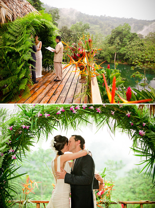 costa rican rainforest destination wedding junebug weddings