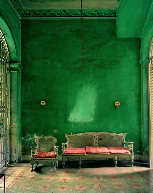 Green interior and architecture in Cuba, photo by Michael Eastman - eastmanimages.com