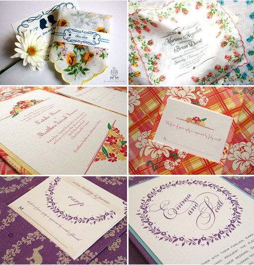 wedding invitations with fabric