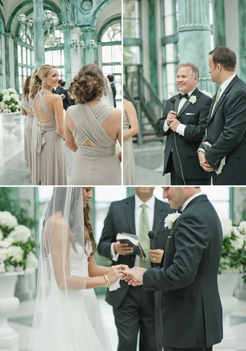 white on white wedding at the historic Flagler Museum in Palm Beach, Florida - photos by Bee Photographie