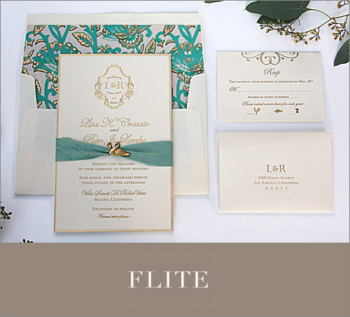 Romantic wedding invitation from Flite Design Studio | junebugweddings.com