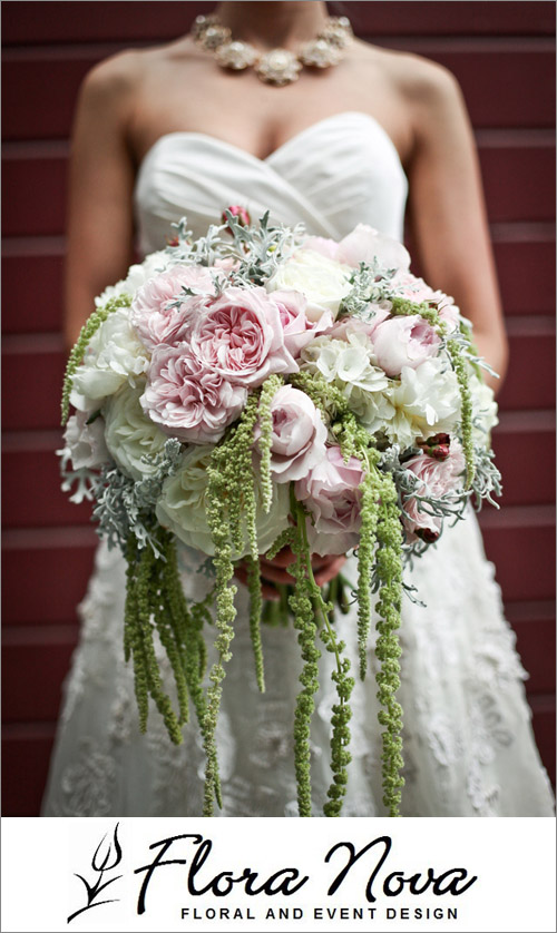 Bridal bouquet by Flora Nova, Seattle WA florist; photo by Ashley Paul Studio | junebugweddings.com