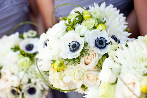 Black and White Anemone Bouquet by Flora Nova, Photo by Gabriel Boone