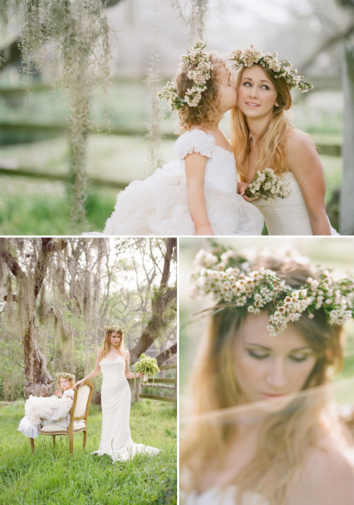 Floral Crowns by Pizzini Designs - J Wilkinson Co Photography via Junebug Weddings