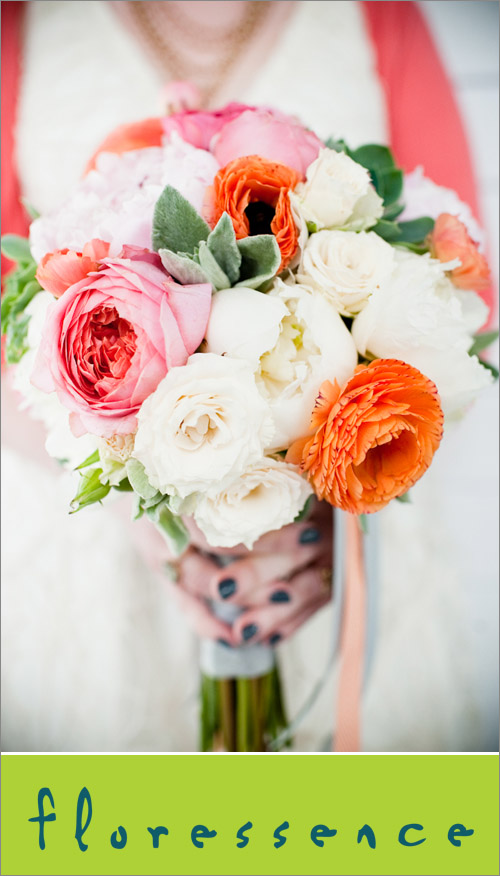 Bridal bouquet by Seattle florist Floressence, photo by Laurel McConnell | junebugweddings.com