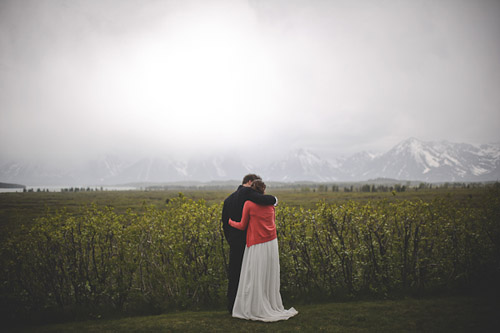 Grand Tetons Destination Wedding - Photos by Sunglow Photography | Junebug Weddings