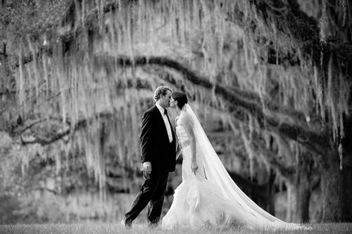 Elegant green and white georgia plantation wedding for Wedding dresses in thomasville ga