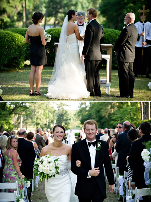 Plantation Wedding with Green and White Color Palette - Photos by Browne Photography | Junebug Weddings
