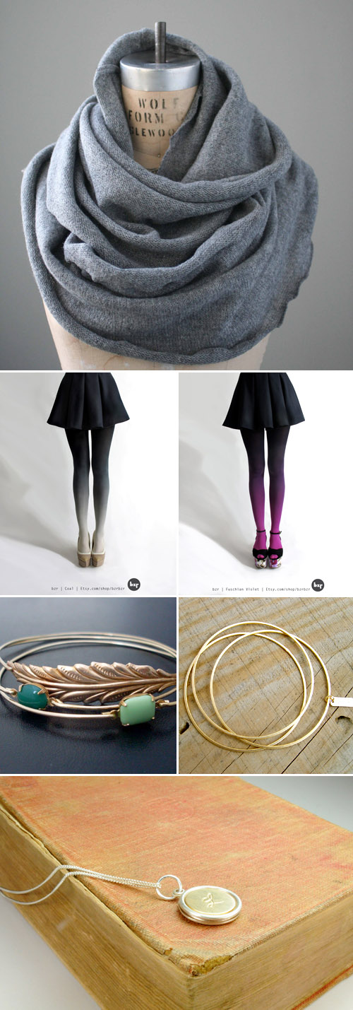 holiday fasion gift ideas from Etsy.com | via junebugweddings.com