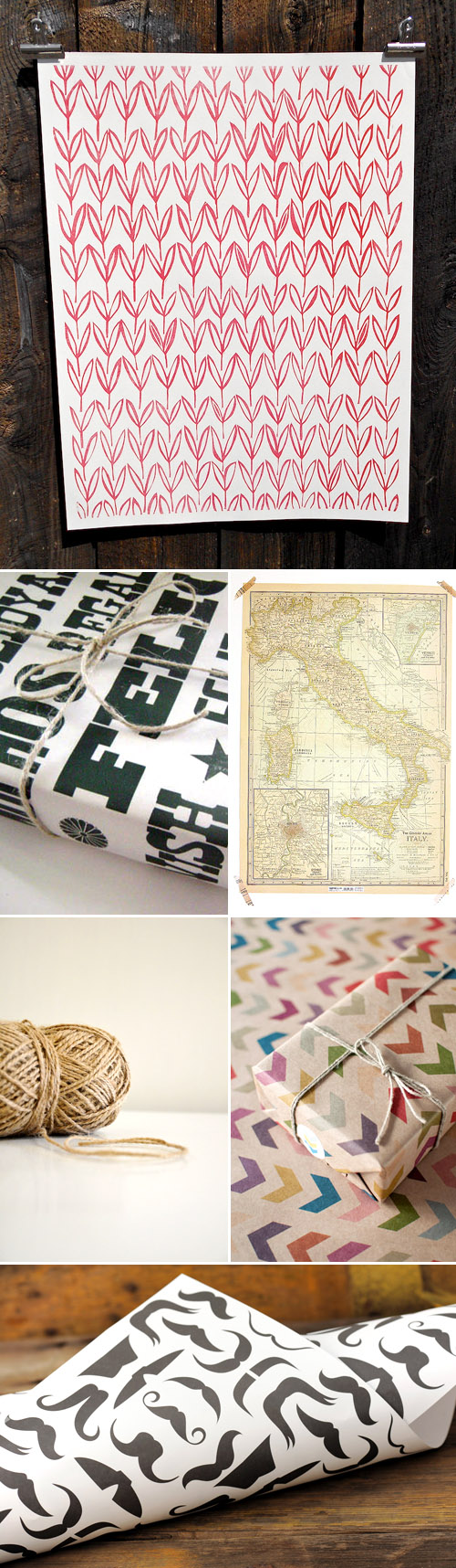 holiday gift wrap ideas from Etsy.com | via junebugweddings.com