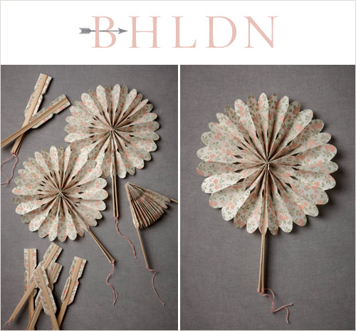 Crinkle Fans from BHLDN in the junebugweddings.com Holiday Wedding Décor Giveaway! | junebugweddings.com