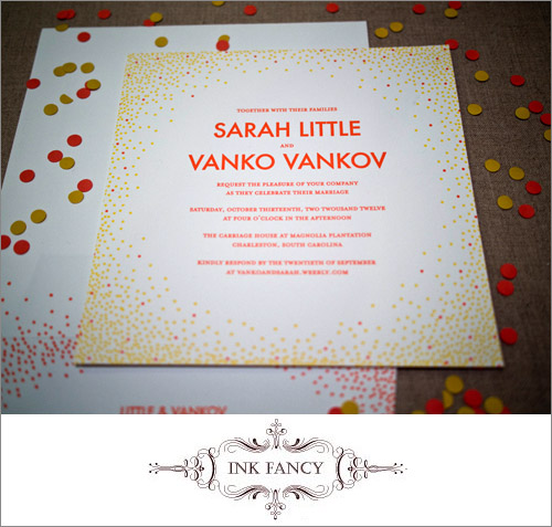 Ink Fancy Wedding Invitations | junebugweddings.com
