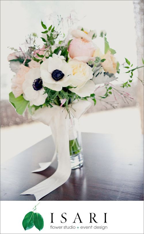 Bridal bouquet by Isari Flower Studio, photo by onelove photography | junebugweddings.com