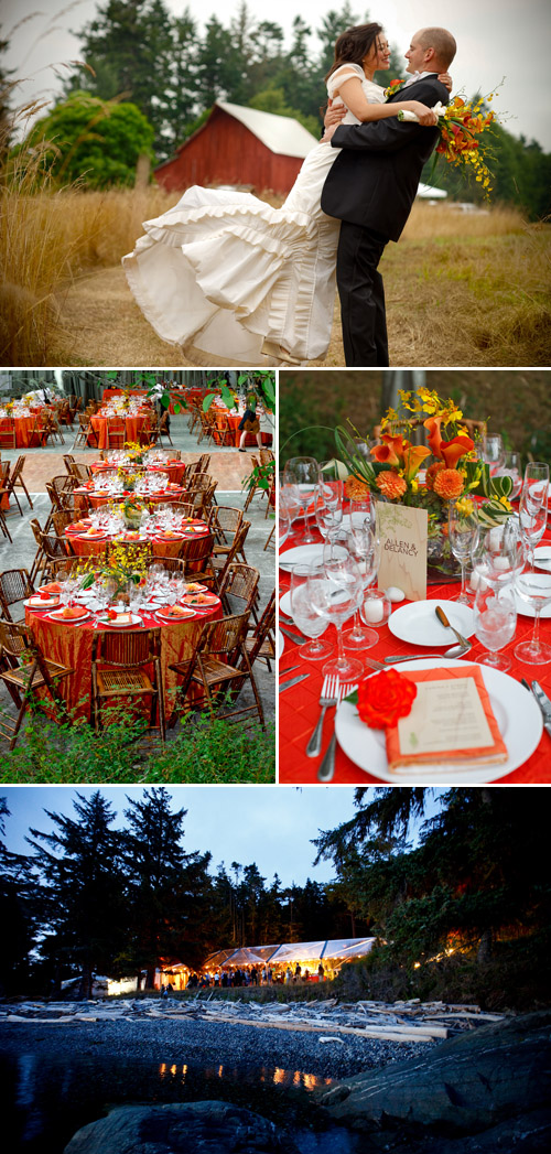 orange and yellow rustic Pacific Northwest wedding planned by Jacky Grotle of Event Success and photographed by April Greer