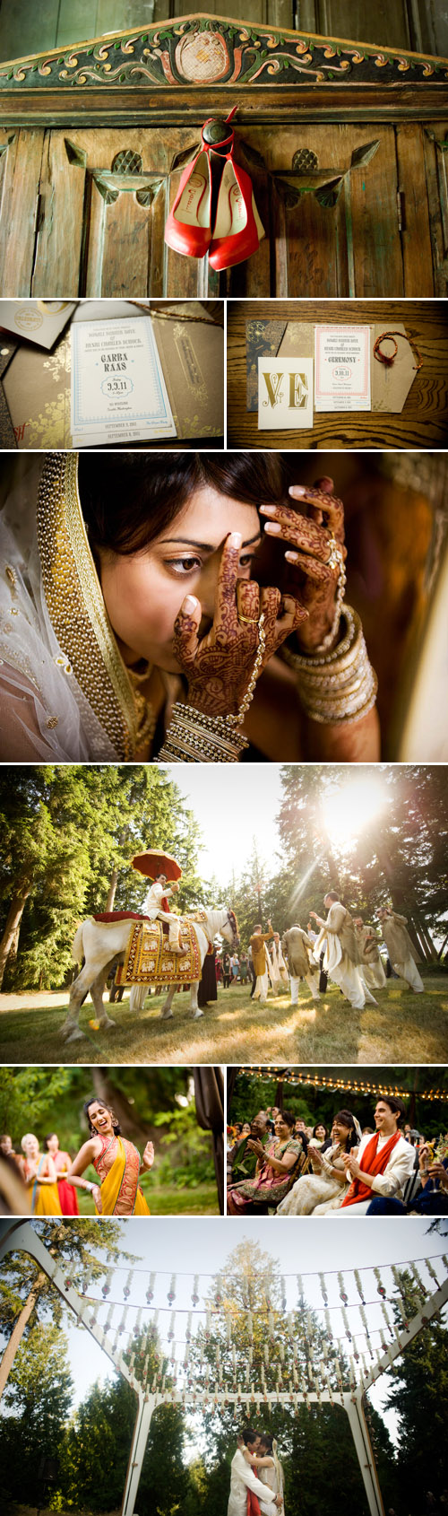 colorful Indian and American wedding planned by Jacky Grotle of Event Success and photographed by Joe and Jill Photography