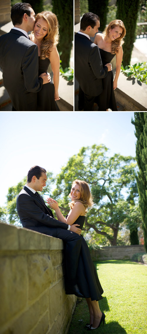 stylish Los Angeles beach and garden engagement photos by Mike Colon Photography