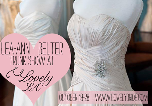 Lovely Bride LA Leanne Belter Trunk Show | junebugweddings.com