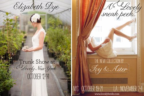 Trunk Shows at Lovely Bride NYC | junebugweddings.com