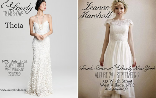 Lovely Bride Trunk Shows NYC