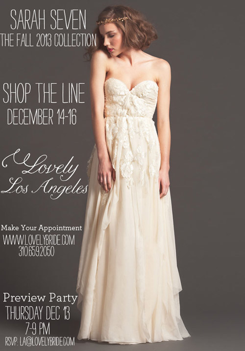 Sarah Seven Trunk Show at Lovely Bride LA | junebugweddings.com