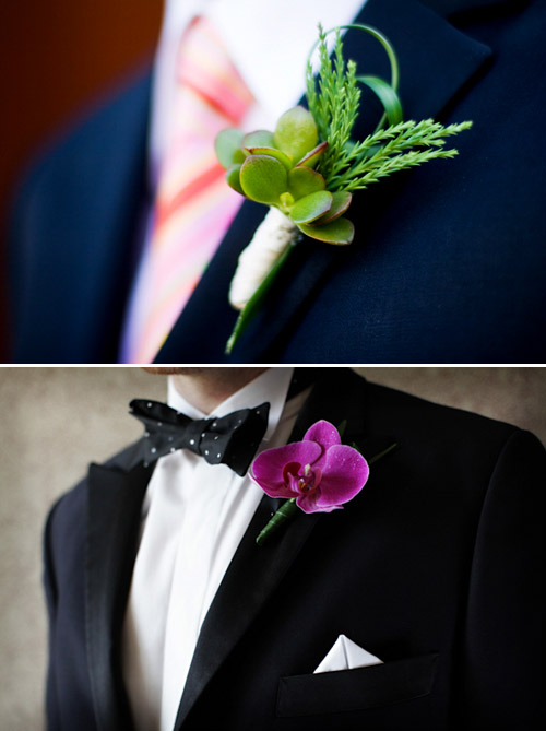 Formal Boutonnieres - Photos by Stephanie Cristalli and Chris plus Lynn | Junebug Weddings