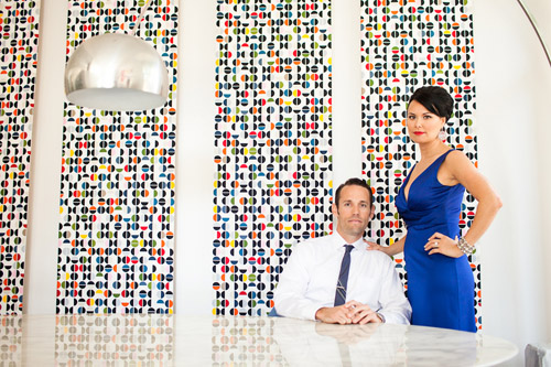 Mid-Century Modern, Mad Men Style Engagement Shoot - Photos by Michael L'Heureux | Junebug Weddings