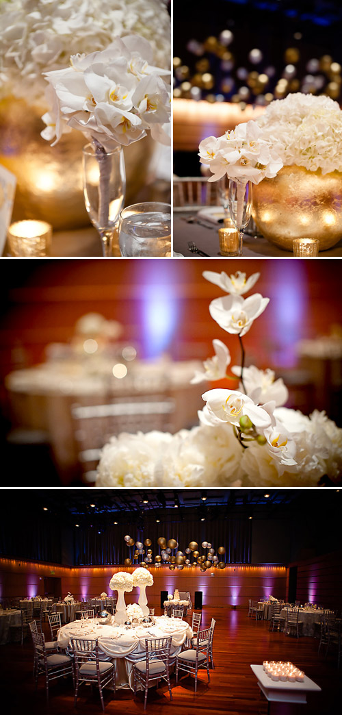Sophisticated Gold and Silver Wedding at Overture Center for the Arts