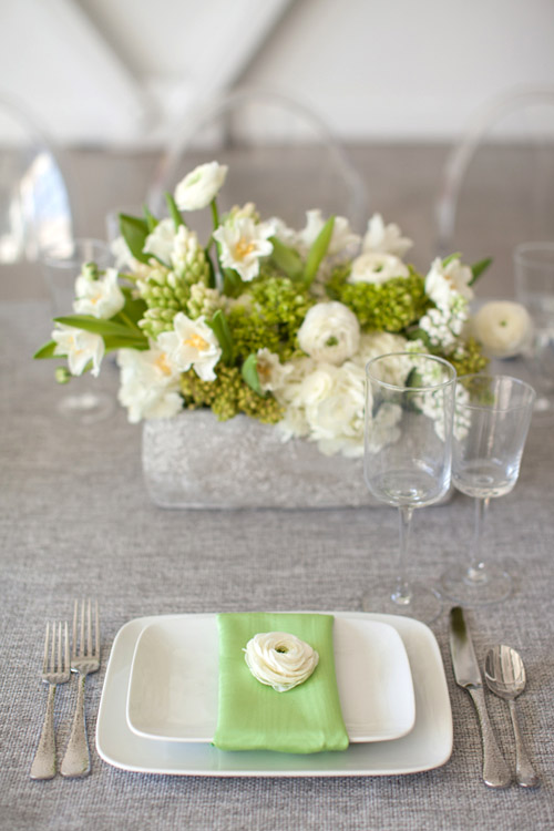 Gray Green Ivory Wedding Style Inspiration Shoot