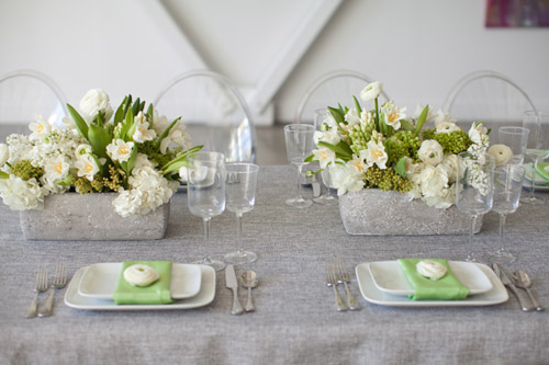 Gray, Green, Ivory Wedding Style Inspiration Shoot | Junebug Weddings