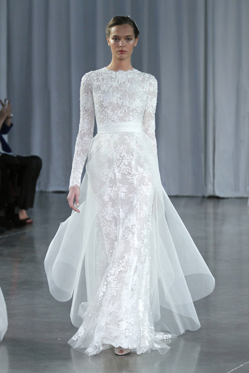 Monique Lhuillier Wedding Dresses - Fall 2013 | Junebug Weddings