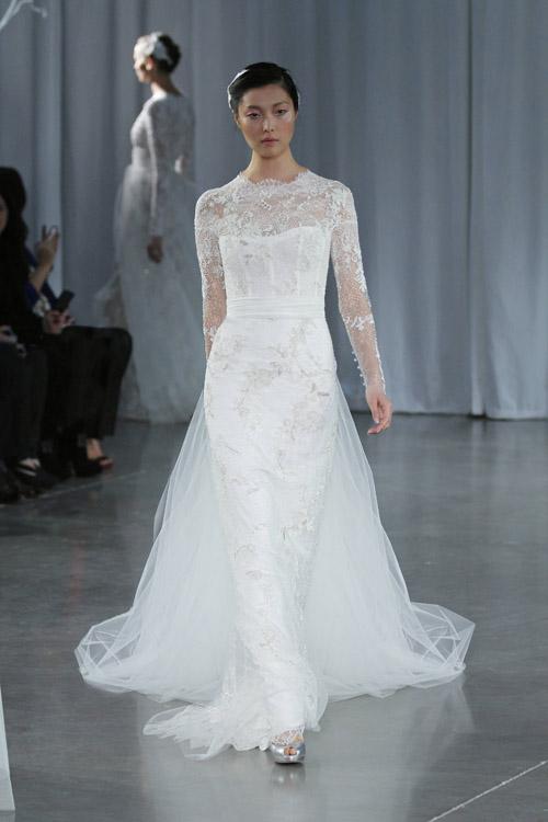 Monique Lhuillier Wedding Dresses - Fall 2013 | Junebug Weddings