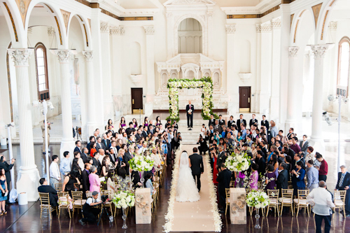 Music themed wedding at Vibiana with photos by Callaway Gable | junebugweddings.com
