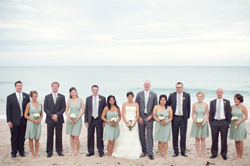 Beach Wedding with Muted Natural Color Palette | Junebug Weddings