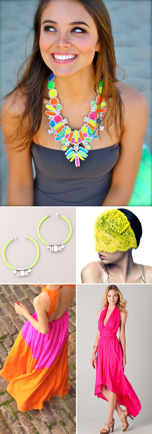neon wedding fashion and accessories