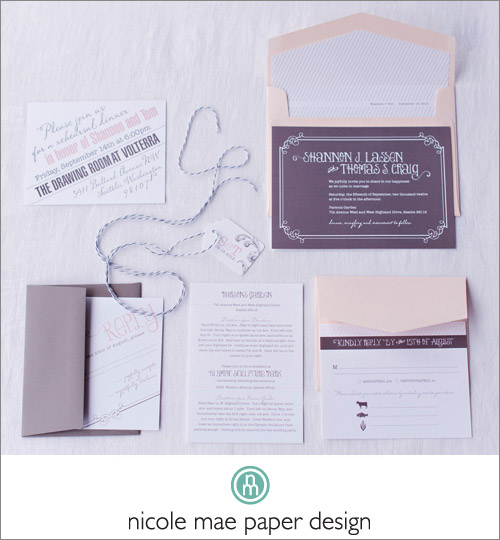Dreamy Wedding Invitation by Nicole Mae Paper Design; Photo by Eliza Truitt Photography | junebugweddings.com