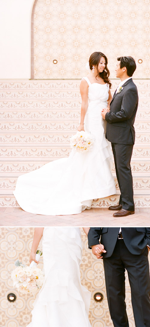 Ocean view wedding at Terranea Resort, photo by Picotte Photography