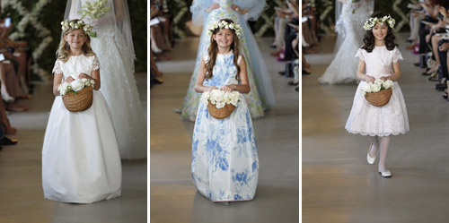 oscar de la renta spring bridal flower girl dresses, photos by dan lecca
