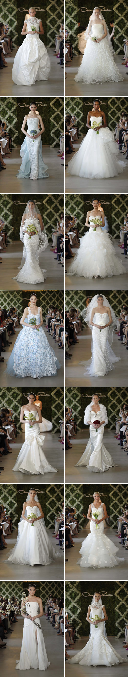 oscar de la renta bridal collection photos by dan lecca