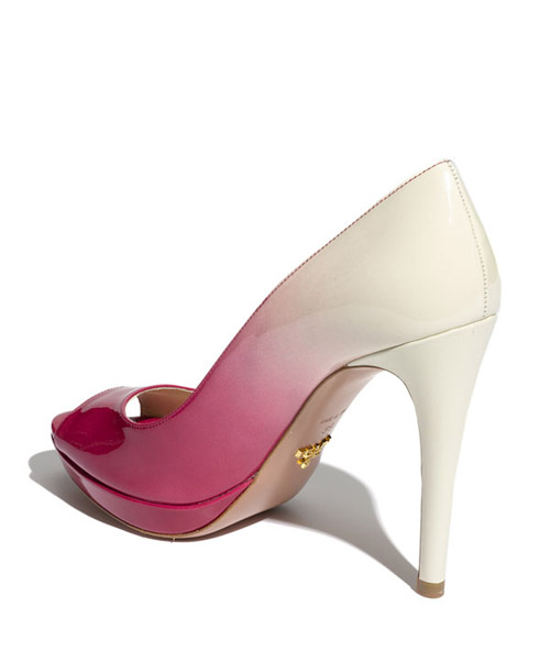 debccfd1ddb Prada Dégradé peep toe pump in pink and white from Nordstrom.com