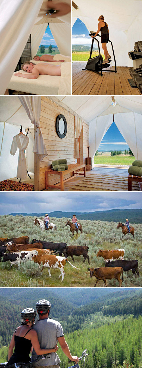 Glamorous luxury camping in Montana for your honeymoon at The Resort at Paws Up