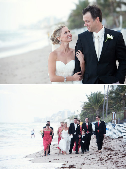 Elegant Beach Wedding at The Pelican Grand Resort, Fort Lauderdale - K and K Photography | Junebug Weddings